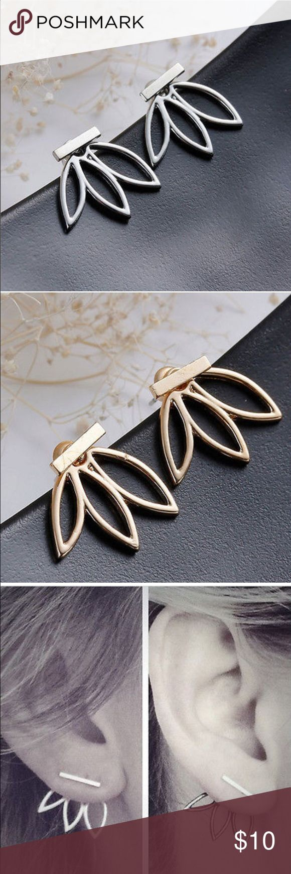 COMING SOON❗️ Metal lotus earrings Gold and silver metal earrings. Will update you upon receipt of items. Jewelry Earrings