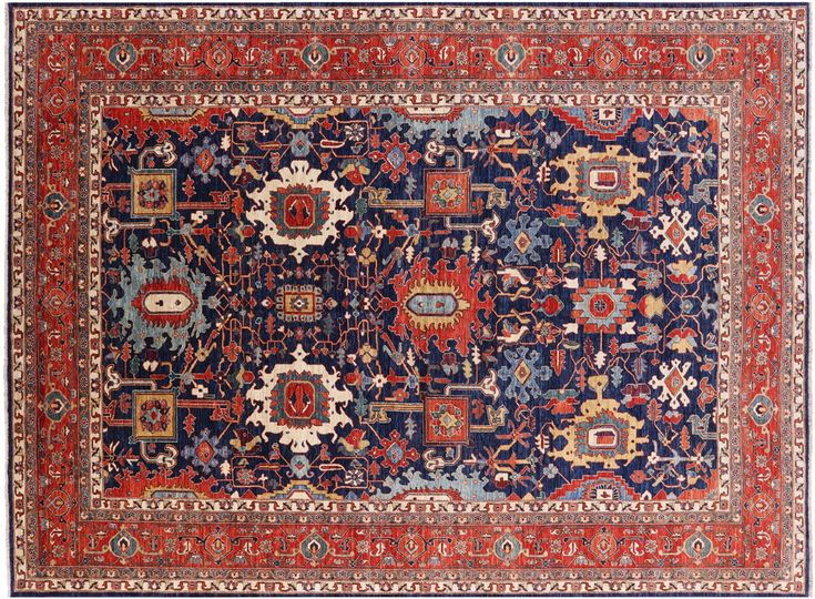 10 X 14 Persian Fine Serapi Handmade Wool Area Rug Q2350 Wool Area Rugs Rugs On Carpet Rugs