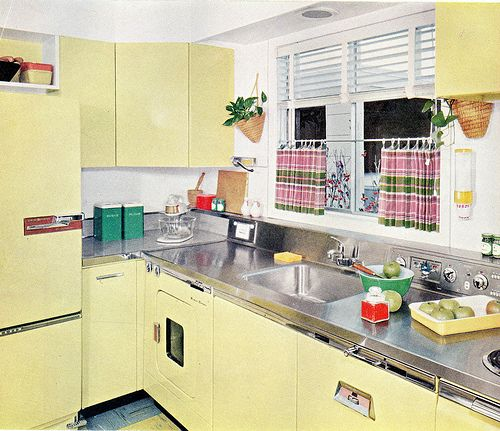 17 best images about 50s kitchen on pinterest vintage for Modern 50s style kitchen