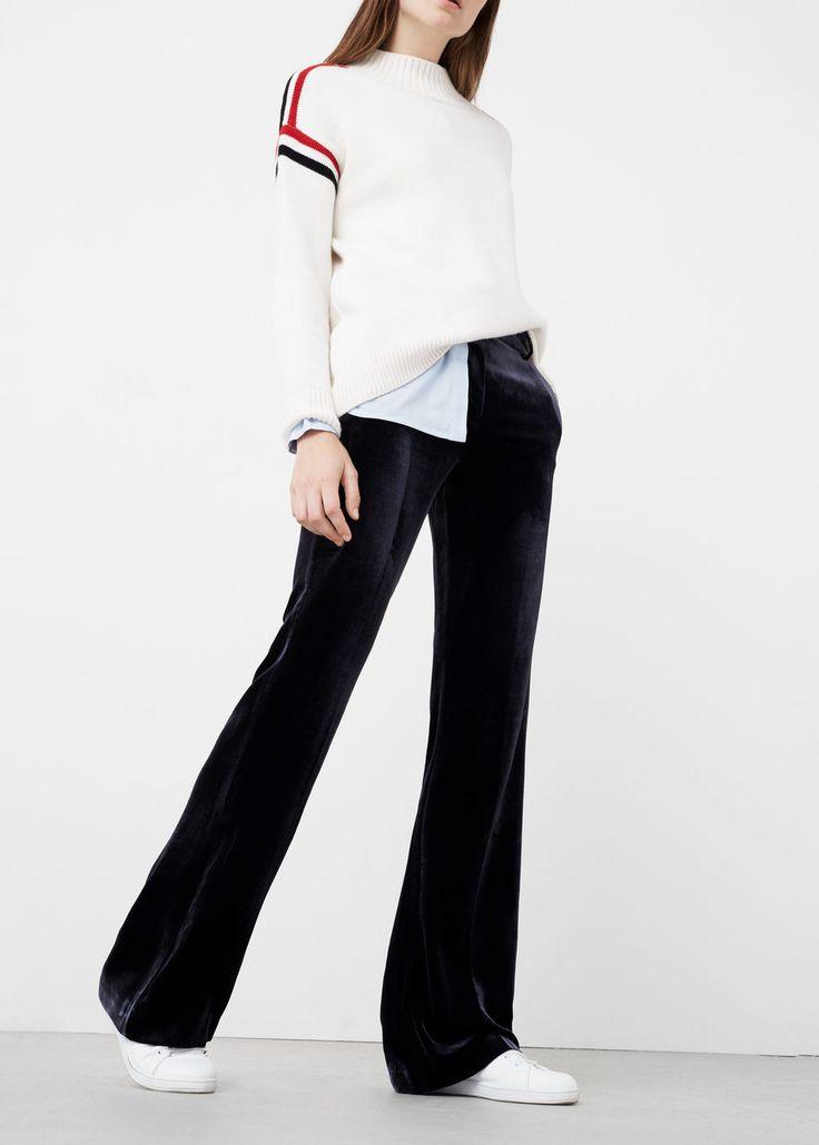 Fluwelen broek - Broeken voor Dames | MANGO Nederland