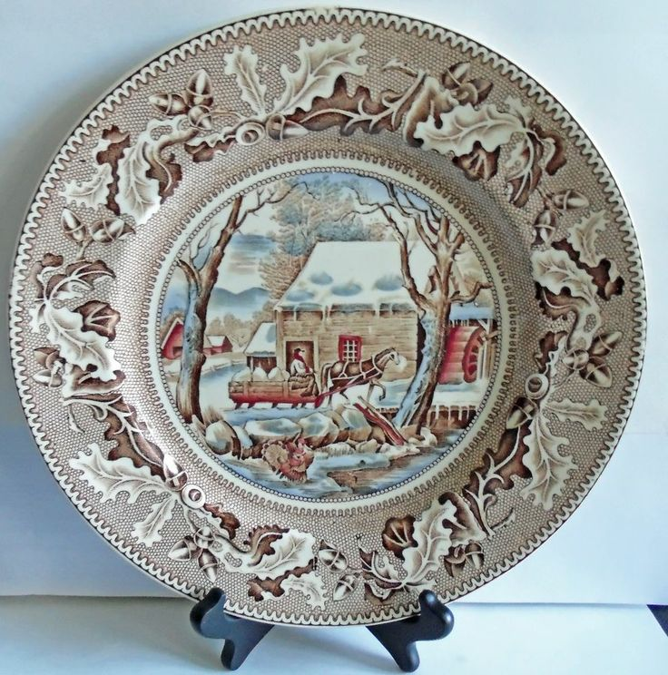Johnson Bros. England Historic America Thanksgiving Frozen Up 10 1/2\  Plate & 52 best Johnson Bros images on Pinterest | Dinnerware Dishes and ...