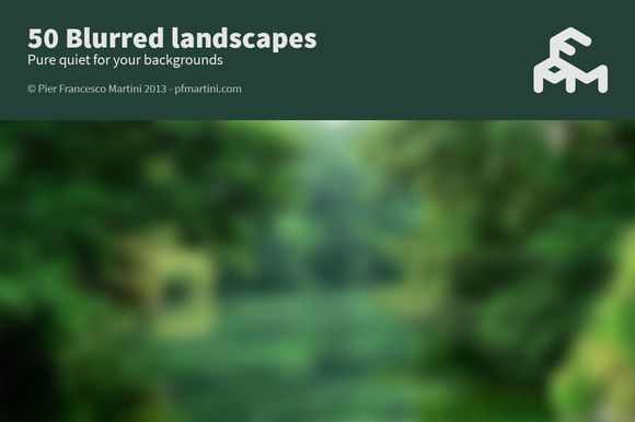 Check out 50 Blurred landscapes by MARTINI Type Designer on Creative Market