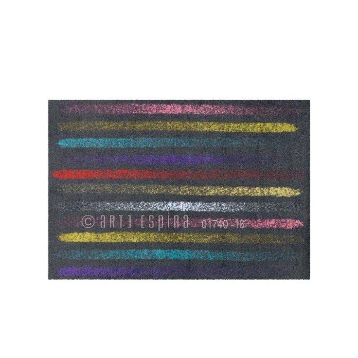 116 best paillassons tapis d 39 ext rieur originaux images on pinterest originals carpet and - Tapis rayures multicolores ...