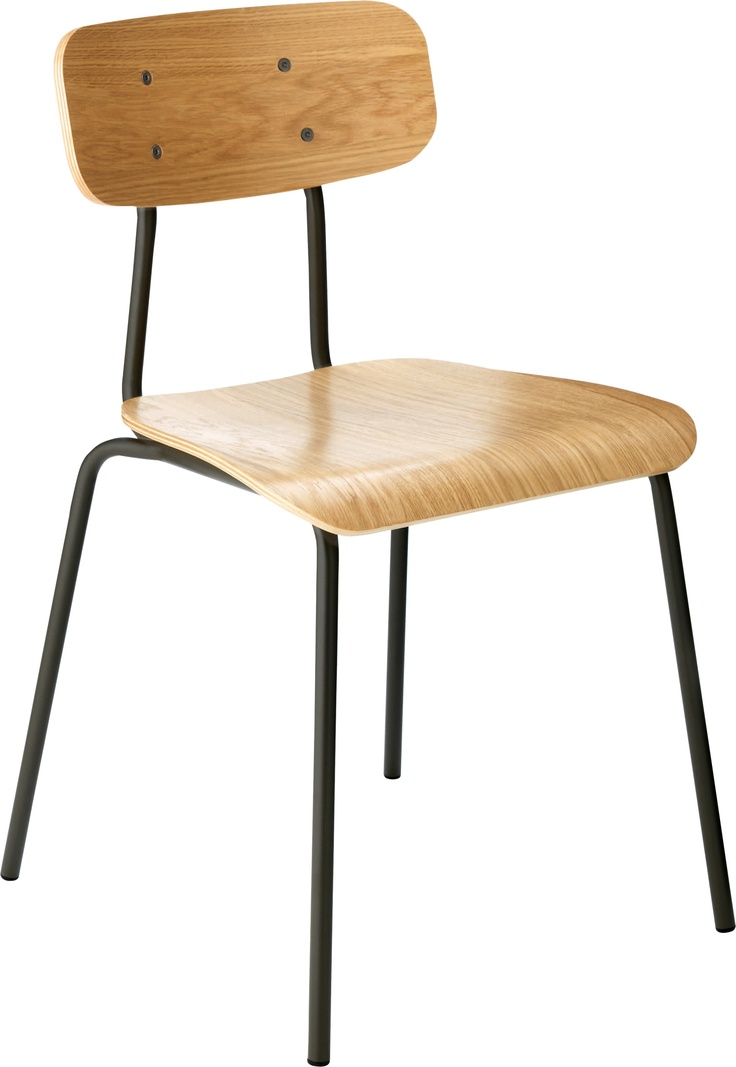 Hester spisestol. Fåes i flere ulike farger. Dimensjoner: L43.5 x H78.5 x D45 cm. Kr. 1385,-