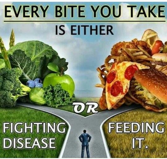 Food is fuel, it heals or it infects