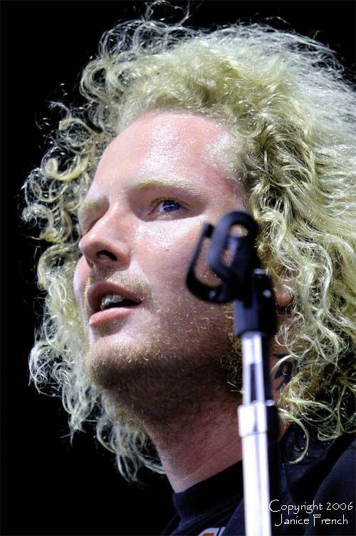 Seems corey taylor long blonde hair something