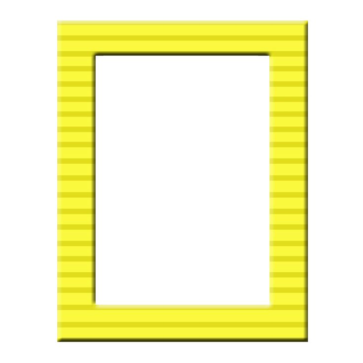 yellow frame png frame yellow 3600x3600px - Yellow Picture Frames