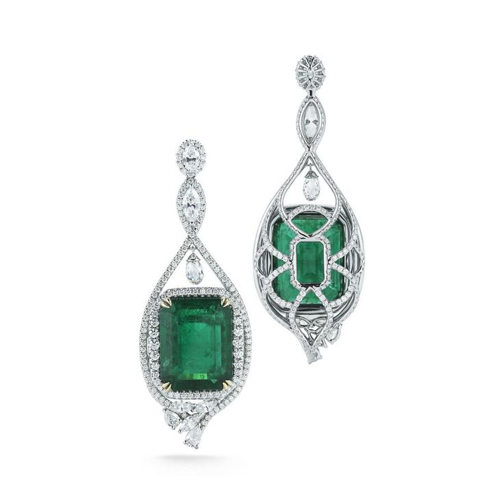 Emerald and Diamond Earrings by Takat