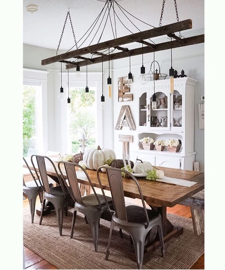 104 best Dining area images on Pinterest Dining area  : 641f48f1d97ea0dcf4eac443f6a682e0 industrie chic ladders from www.pinterest.com size 736 x 885 jpeg 116kB