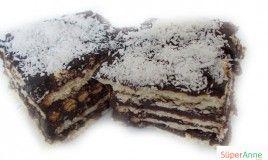 Bisküvili Kiremit Pasta Tarifi