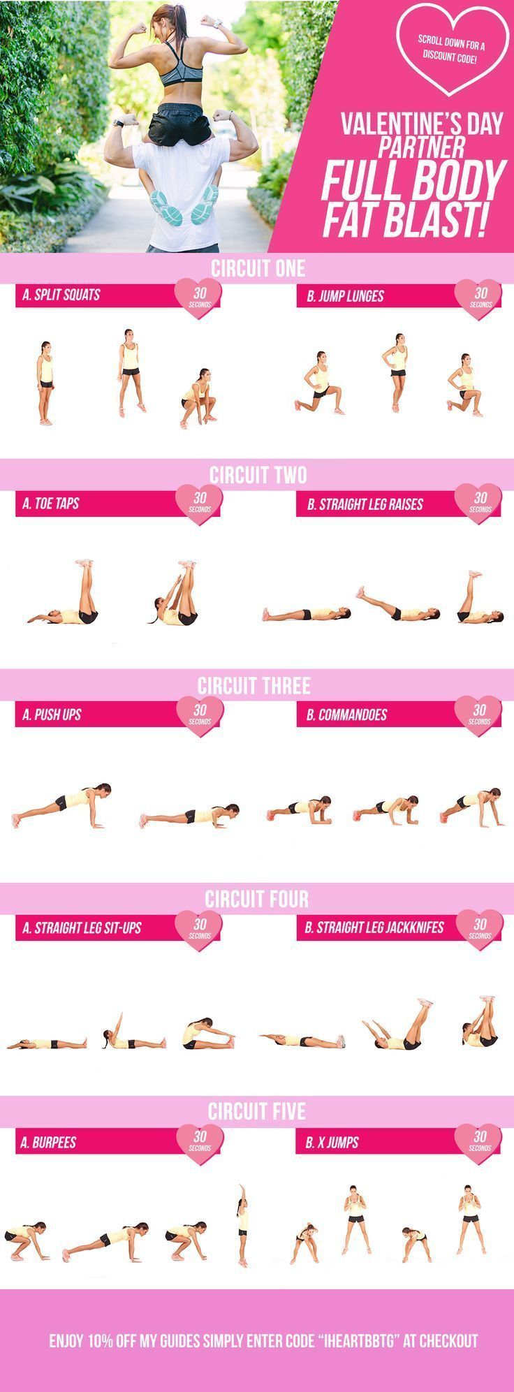 Valentines Day Fat Blasting Partner Workout! – Kayla Itsines