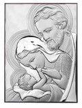 Srebrny Obrazek Święta Rodzina - prezent na chrzest, ślub, komunię www.pasazhandlowy.eu