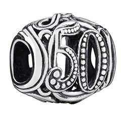 Commemorate life's important events - birthdays, anniversaries and more -  with this 50 Milestone sterling silver filigree charm.