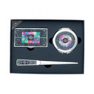 KLPKOREA INC [KL03320[10개가격]자개명함케이스+조가비양면거울+봉투칼세트(중)]