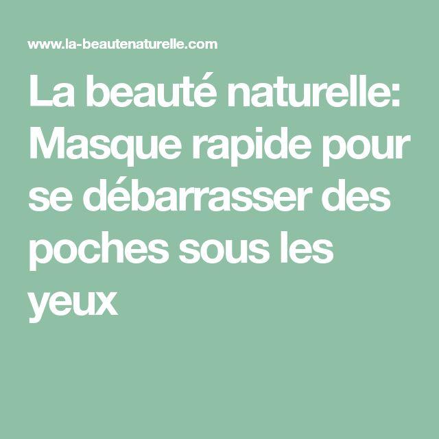 La beauté naturelle: Masque rapide pour se débarrasser des poches sous les yeux