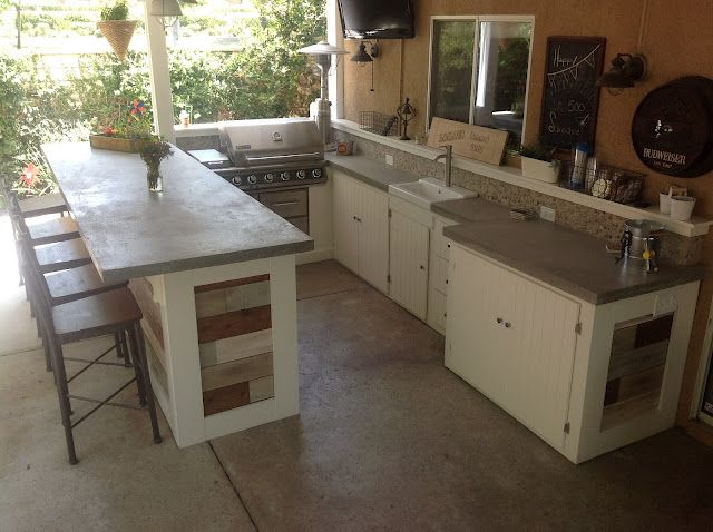 outdoor kitchen countertop material. kitchen : concrete countertops poured with hanging plants decorative countertop materials\u201a granite countertops\u201a outdoor material