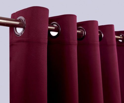 Burgundy22 Thermal Insulated Blackout Curtains 4_ Burgundy Red Thermal  Insulated Blackout Curtains Www.pluscurtains.