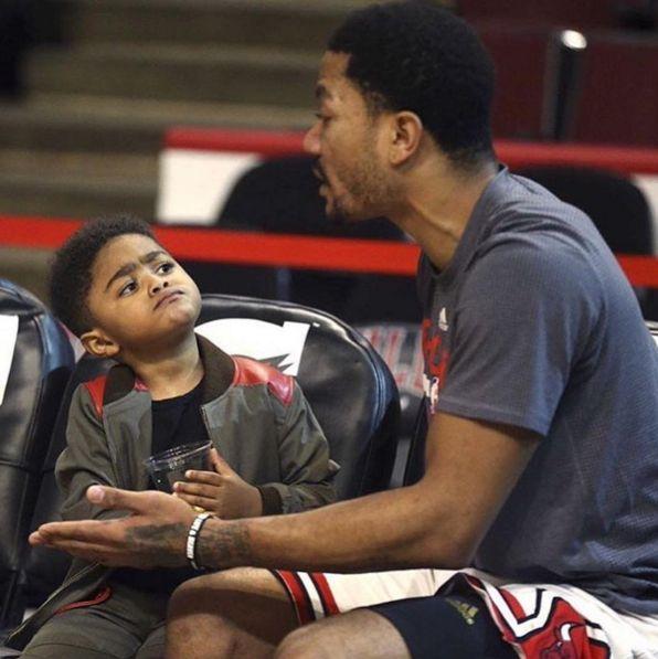 NBA Kids: Derrick Rose's Son PJ Rose (Derrick Rose Jr.) -...