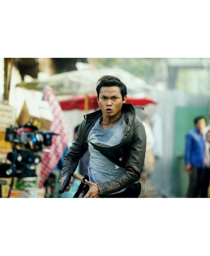 Skin Trade Tatchakorn Yeerum Tony Jaa Black Leather Jacket