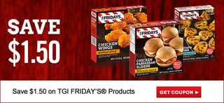 Save $1.50 on TGI FRIDAY'S® Products