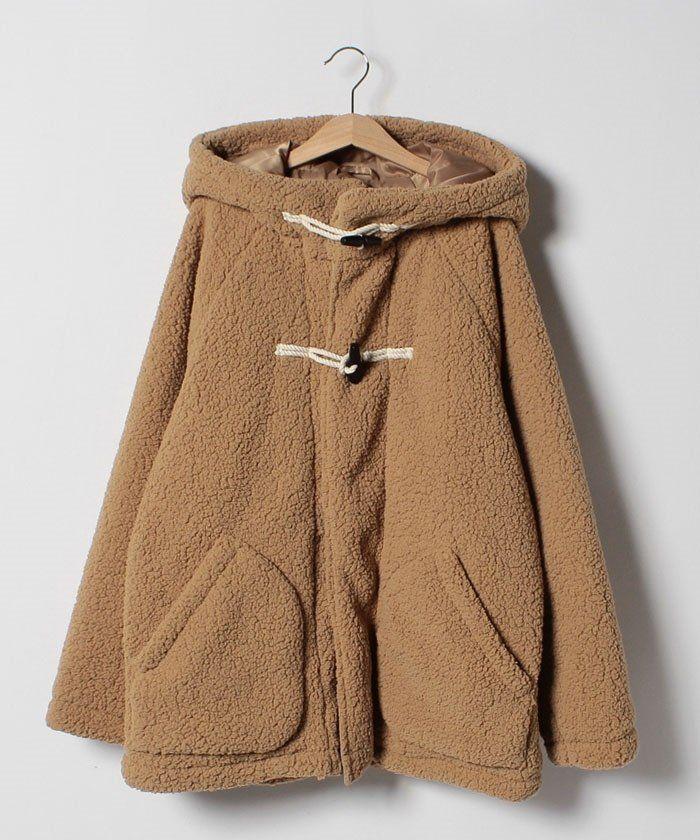 b51e8df89c7ab  コムサイズム COMME CA ISM   KIDS の ベビーとおそろいデザインあり  ふわもこダッフルコート レディースファッション・服の通販  founy(ファニー) ファッション ...