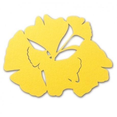 Podkładka - Ginkgo Biloba Felt, żółta