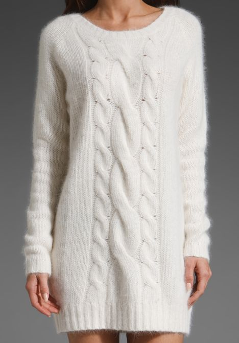 angora white dress