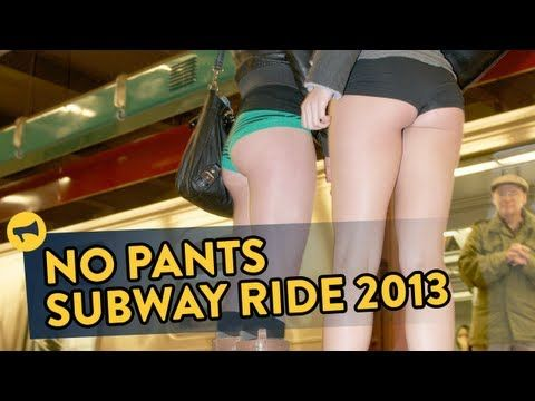 Photos and Video of Improv Everywhere's No Pants Subway Ride 2013