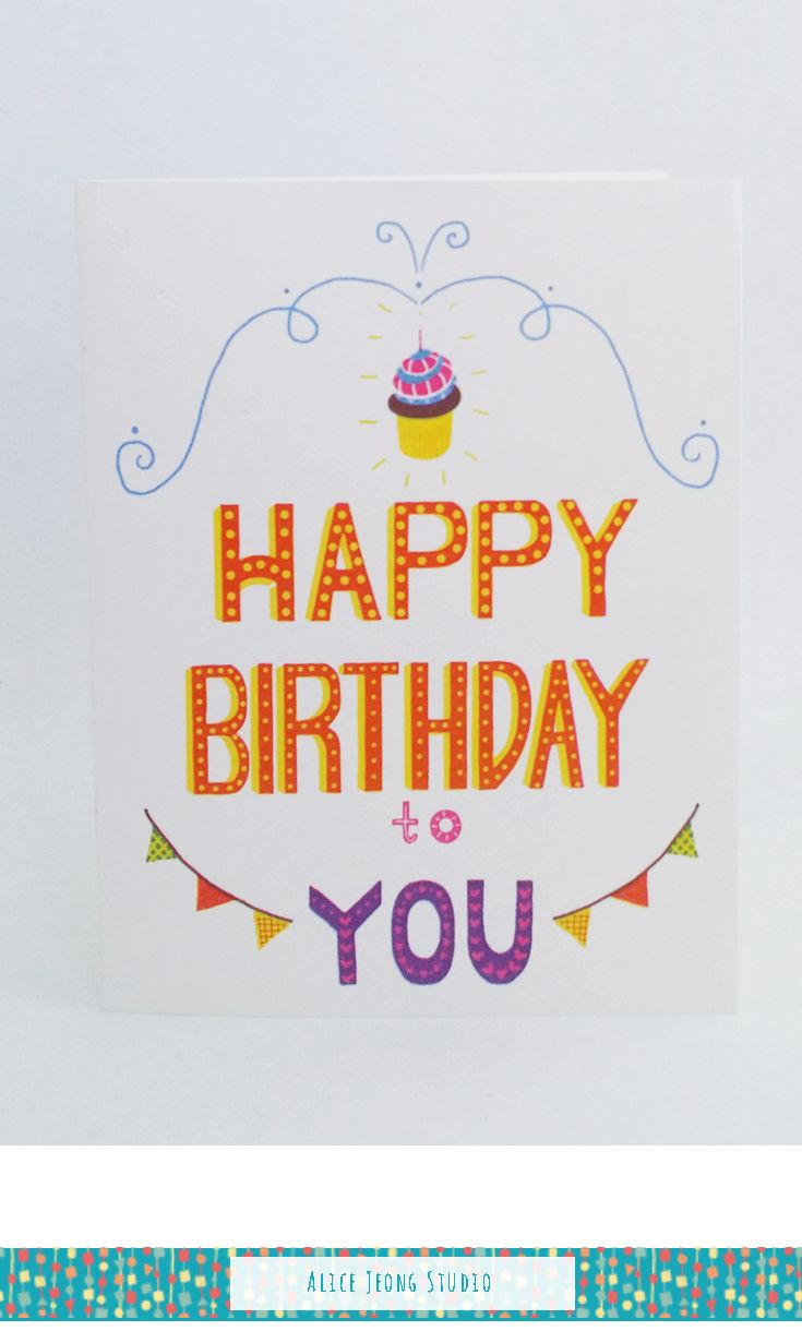 15 best greeting cards from alice jeong studio images on pinterest happy birthday card handmade greeting card greeting card blank handlettered greeting card happy birthday friend happy birthday card m4hsunfo