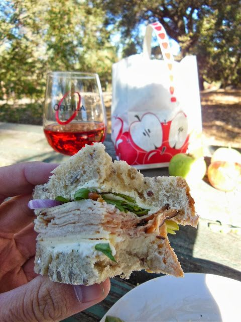 Turkey Harvest Sandwich made with Green Apples, Boursin, White Cheddar ...