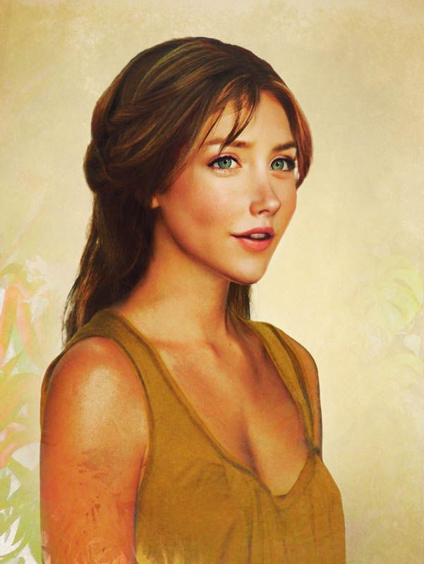 Jane Porter: Real People, Digital Paintings, Real Life, Real Disney Princesses, Graphics Design, Tarzan, Jane Porter, Disney Girls, Disney Character