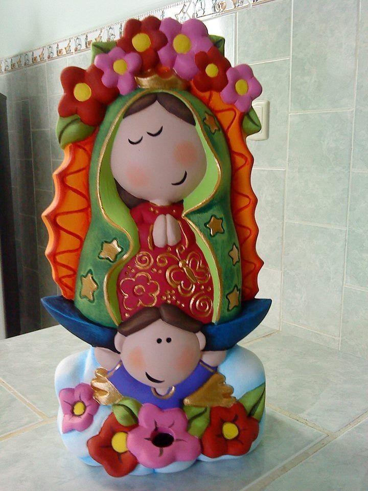 Virgencita En Porcelana Fria - $ 200,00 en MercadoLibre