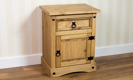 Made from solid pine wood, this furniture comes with a waxed finish which gives it a natural distressed look