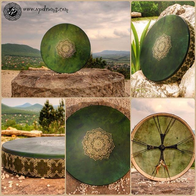 We welcome the spring with a powerful Green drum with golden mandala! Green is the color of nature symbolize our natural inner power. Green is the color that we missed all winter..here it is the wonderful green drum with the power of the new beginning! Inspired by nature made with Love http://ift.tt/2FJ4vZr www.vpdrums.com #drum #drumming #handcrafted #handmade #handmadewithlove #love #spring #percussion #music #mandala #framedrum #handdrum #art #artist #color #green