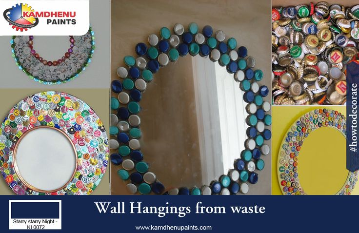 Check out an amazing innovative ideas of wall hangings for Wall hanging from waste