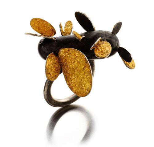 Daniela Boieri  Ring: Hidden Eden 2012  Silver, gold leaf #ring  #design