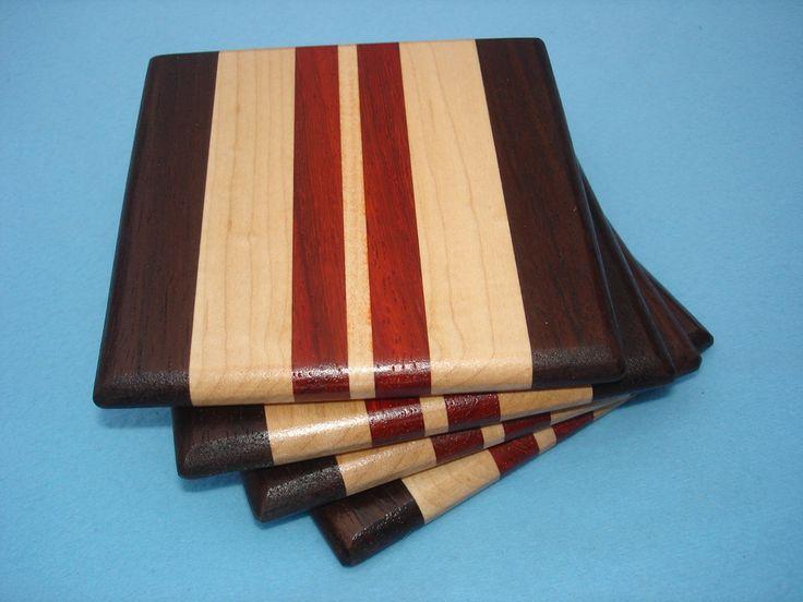 Wood Coasters - Walnut, Maple & Padauk