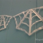 Make a Coffee Filter Cobweb Garland