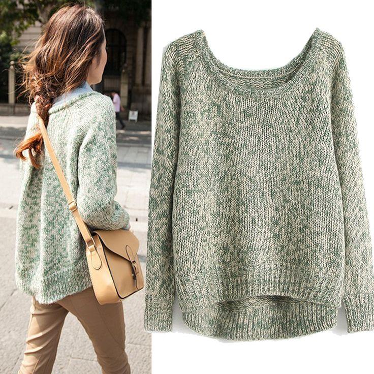 cool 2014 autumn women' dress Korean coloured thread hollow out loose round collar knitwear sweater