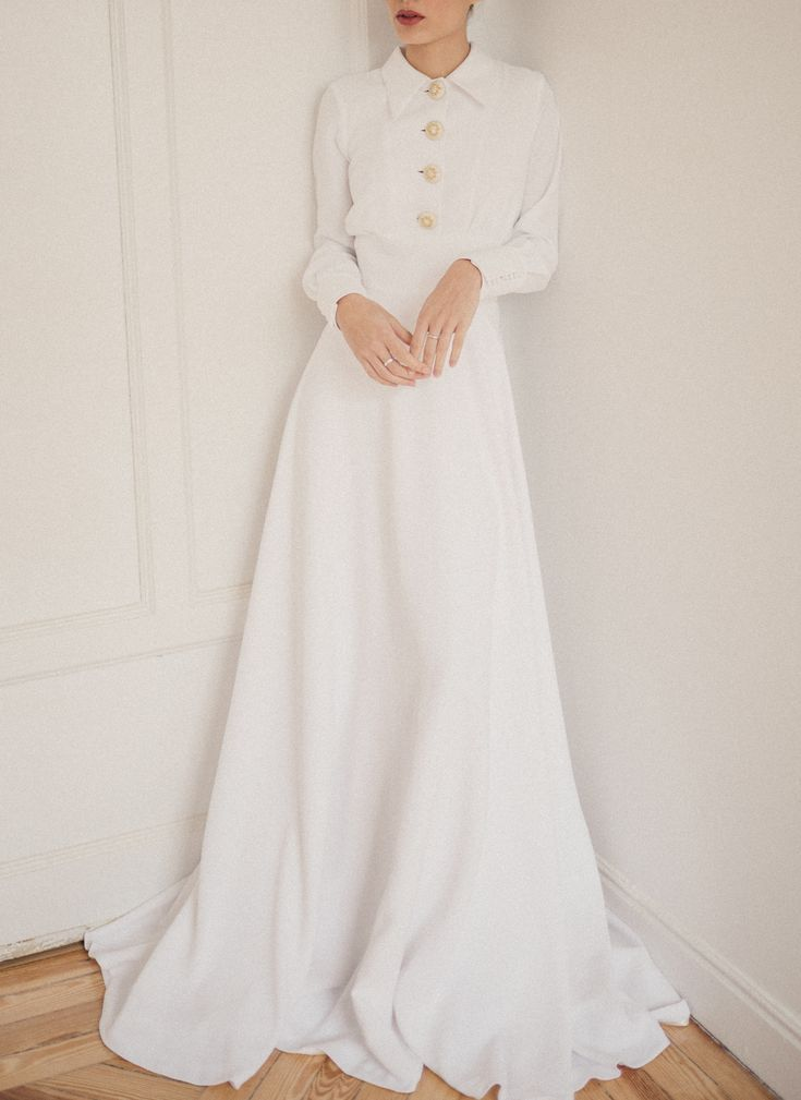 Wunderschönes Chemise-Kleid #Braut #Hochzeit #Cherubina #Hochzeitskleid #Brautkleid