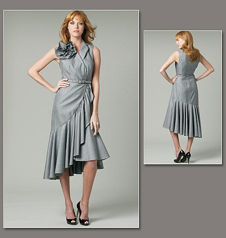 Misses' Dress, Flower and Belt
