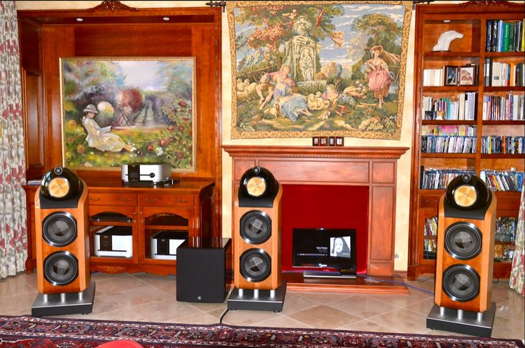 Bowers and Wilkins 802 Diamond Speakers. The room is not minimalist enough for me (it's cluttered) but I like the stereo