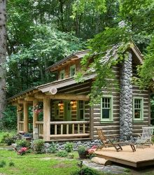 The small log cabin designs featured here are ideal for getaways and retreats. Nestled in rustic wooded settings, they offer countless opportunities to enjoy the out-of-doors year-round!