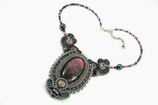LILA soutache necklace montownia monity