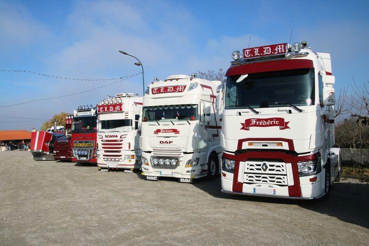 Camions Peterbilt, Volvo, Renault et Scania