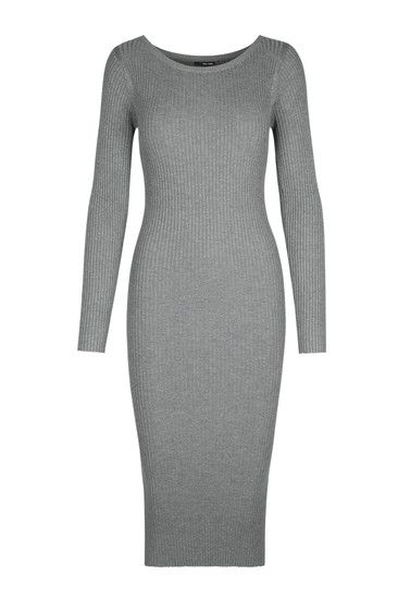 #newin #dress #grey #cozy #TALLYWEiJL