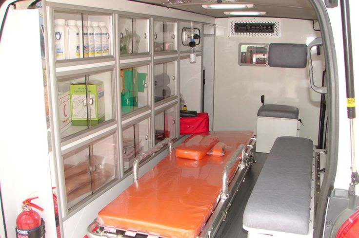 ambulance interior rear view ambulances pinterest