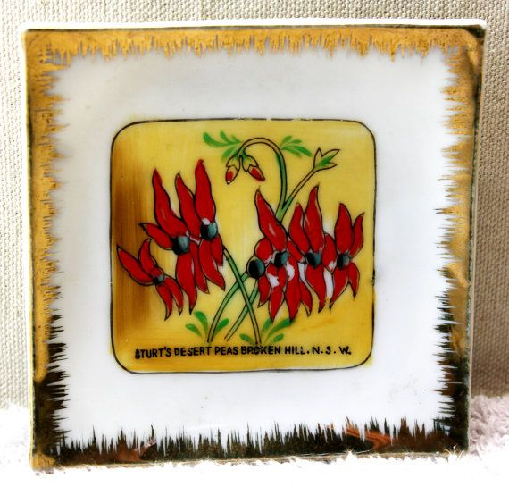 Sturts Desert Pea Souvenir Wall Plate - Broken Hill NSW. $8.38, via Etsy.
