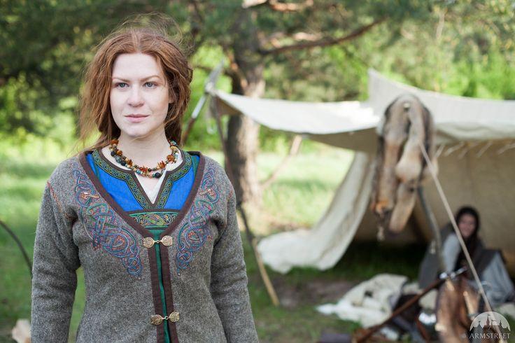 Viking coat with trim