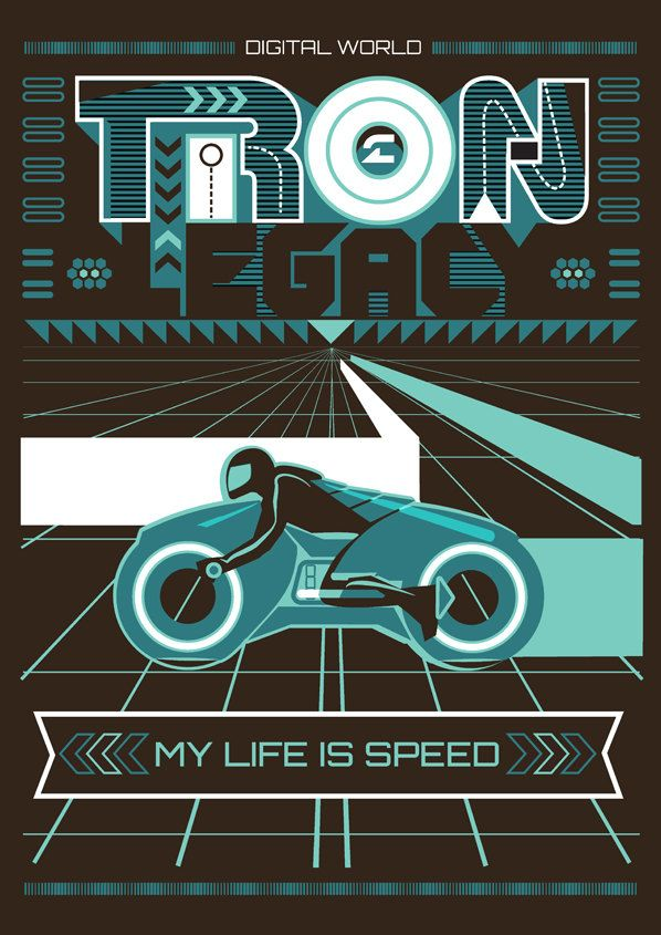 """Tron Legacy"" by Home Posters."